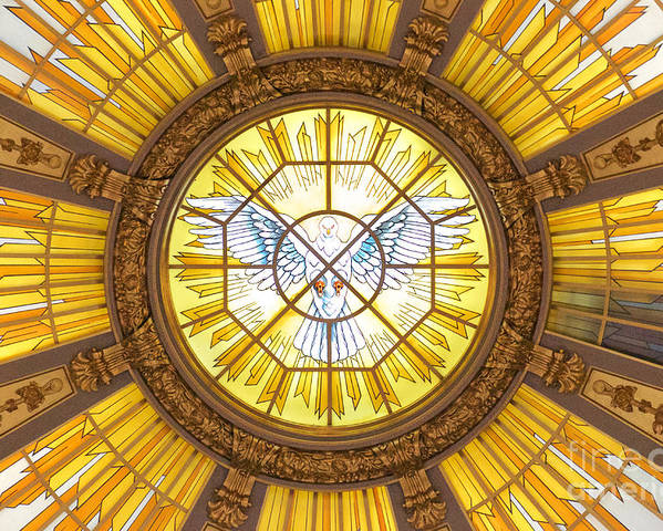 Above Poster featuring the photograph Berlin Cathedral Ceiling by Jannis Werner