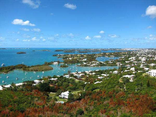 Bermuda Poster featuring the photograph Bermuda From Gibbs Hill Lighthouse by Gordon Cain