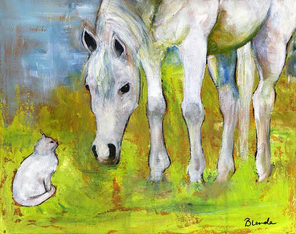 Original Poster featuring the painting Best Friends Art by Blenda Studio