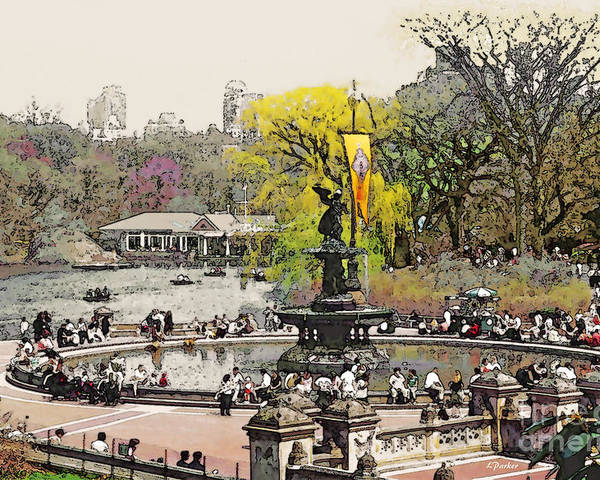 Bethesda Poster featuring the photograph Bethesda Fountain Central Park Nyc by Linda Parker