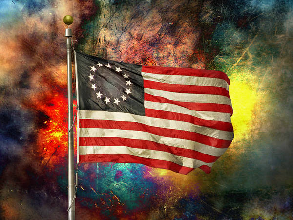Betsy Ross Flad Poster featuring the photograph Betsy Ross Flag by Steven Michael