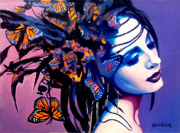 Butterflies Poster featuring the painting Betty by Jose Manuel Abraham