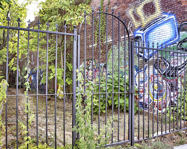 Graffiti Poster featuring the photograph Beyond The Gate by Jason Politte