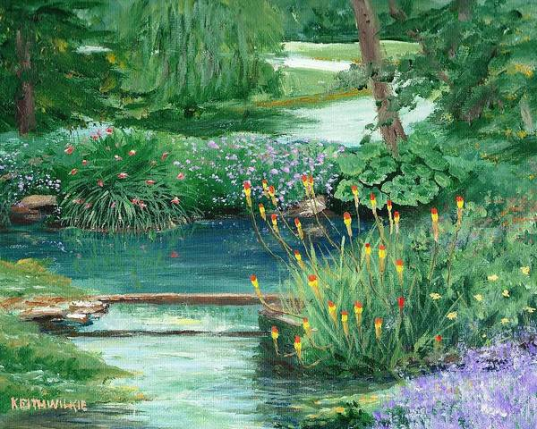 Cotswolds Poster featuring the painting Bibury Stream by Keith Wilkie