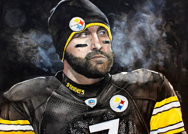 Ben Roethlisberger Poster featuring the painting Big Ben Roethlisberger by Michael Pattison