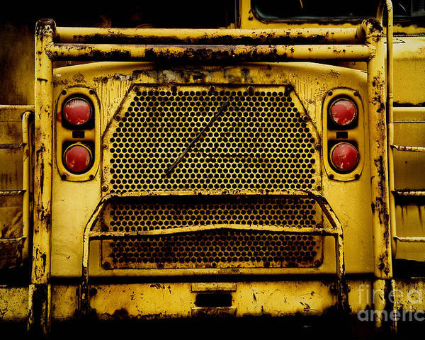 Bulldozer Poster featuring the photograph Big Dump Truck Grille by Amy Cicconi