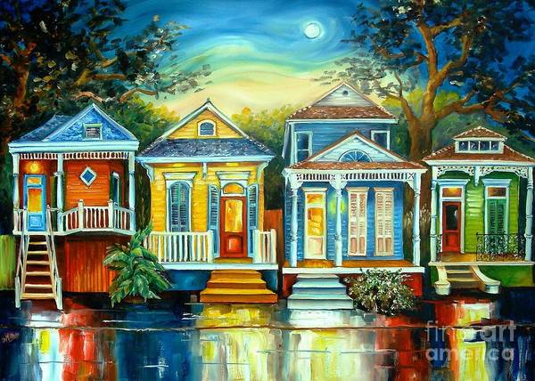 New Orleans Poster featuring the painting Big Easy Moon by Diane Millsap