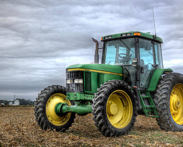 John Deere Poster featuring the photograph Big Green Tractor by Robert Jones