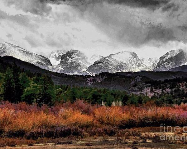 Rocky Mountain National Park Poster featuring the photograph Big Storm by Jon Burch Photography
