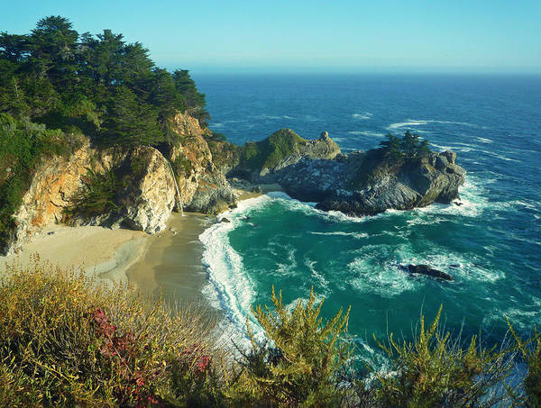 Nature Poster featuring the photograph Big Sur Little Cove by Ashley Keegan