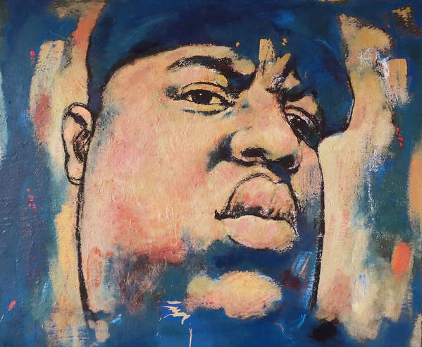Biggie Smalls Art Drawing Poster Poster featuring the painting Biggie Smalls Art Painting Poster by Kim Wang