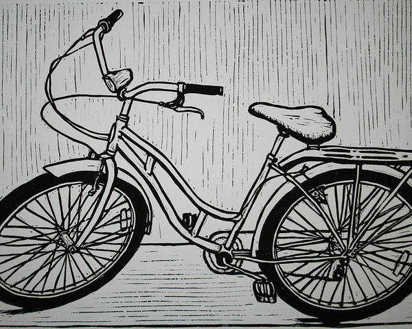Bike Poster featuring the drawing Bike 5 by William Cauthern
