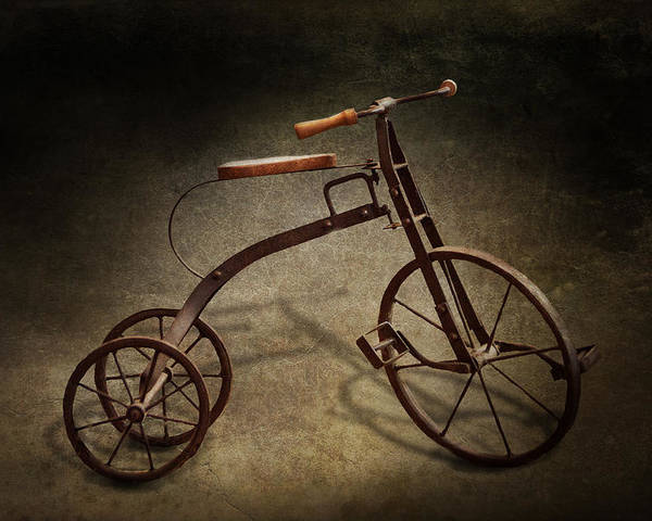 Hdr Poster featuring the photograph Bike - The Tricycle by Mike Savad