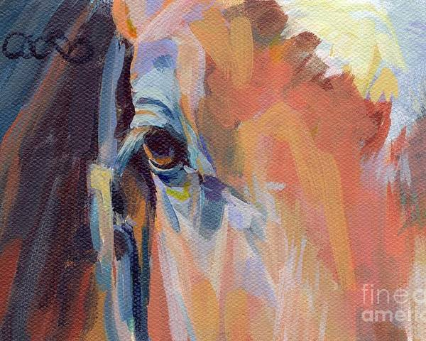 Thoroughbred Poster featuring the painting Billy by Kimberly Santini