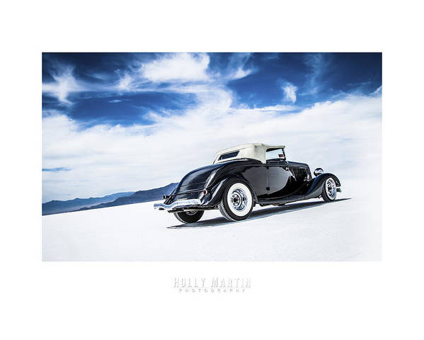 Antique Automobile Poster featuring the photograph Black And Blue by Holly Martin