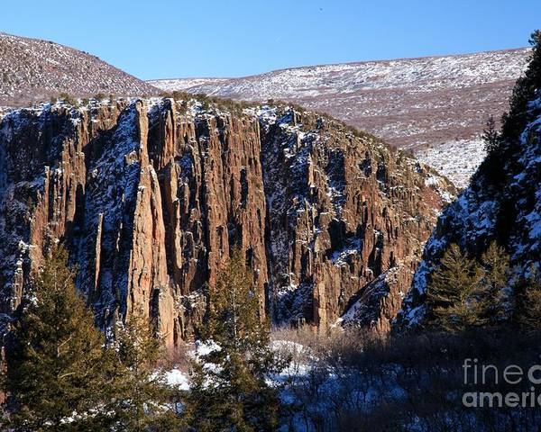 Black Canyon Of The Gunnison Poster featuring the photograph Black Canyon Butte by Adam Jewell