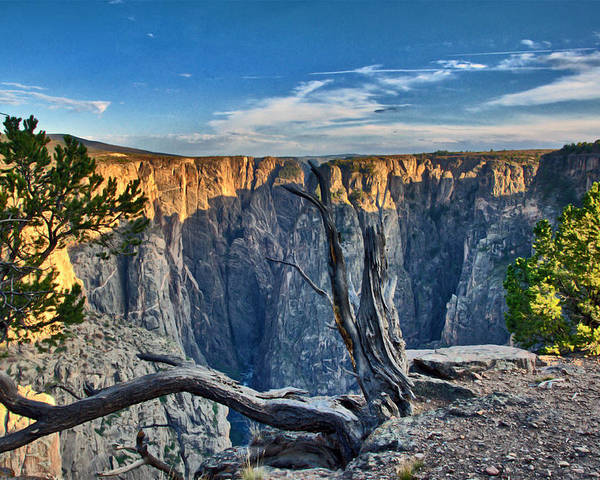 Eric Rundle Poster featuring the photograph Black Canyon Fading Light by Eric Rundle