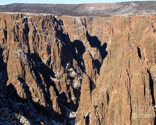 Black Canyon Of The Gunnison Poster featuring the photograph Black Canyon Pinnacles by Adam Jewell