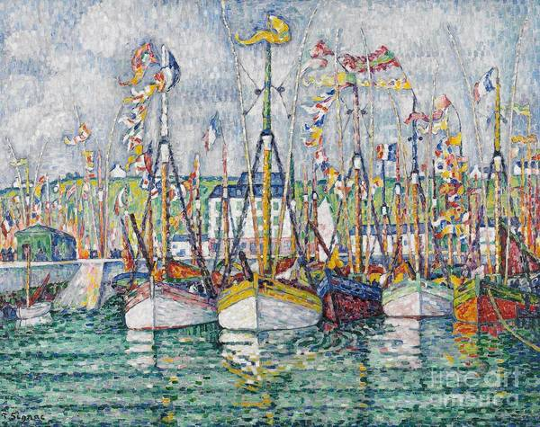 Signac Poster featuring the painting Blessing Of The Tuna Fleet At Groix by Paul Signac