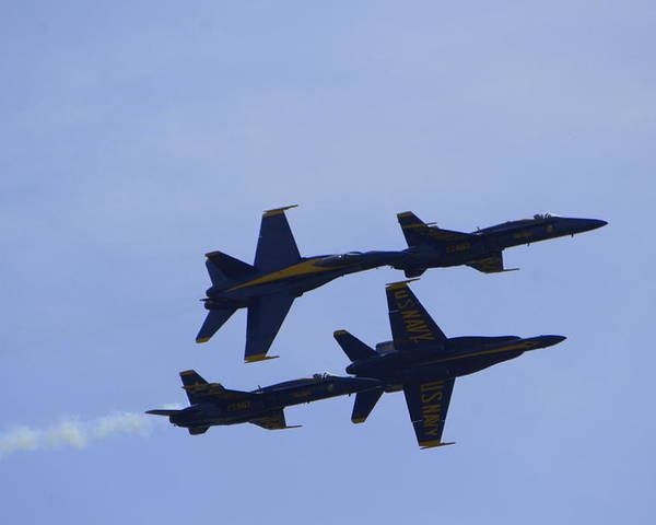Blue Angels Poster featuring the photograph Blue Angels 10 by Laurie Perry