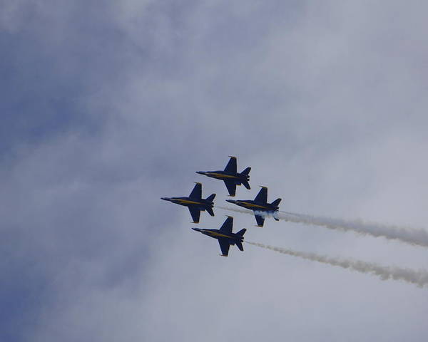 Blue Angels Poster featuring the photograph Blue Angels 3 by Laurie Perry