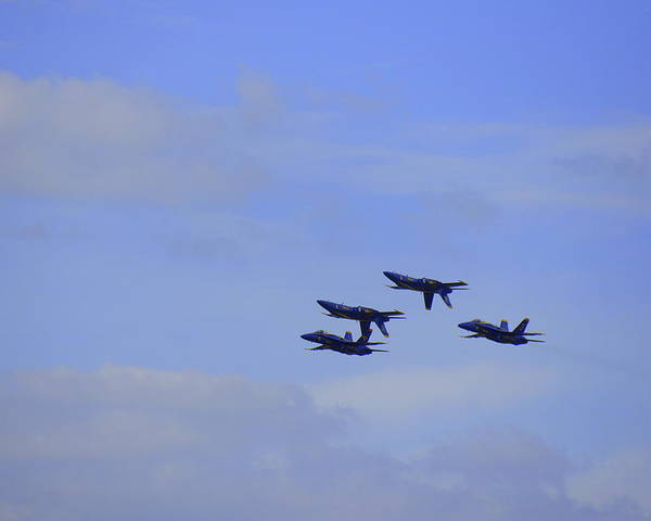 Blue Angels Poster featuring the photograph Blue Angels 5 by Laurie Perry