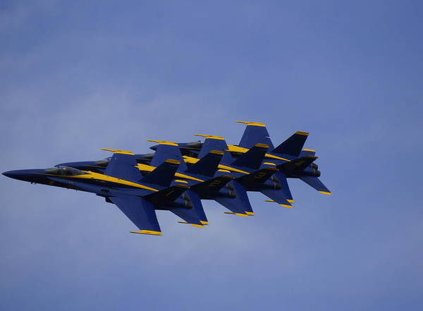 Blue Angels Poster featuring the photograph Blue Angels 6 by Laurie Perry