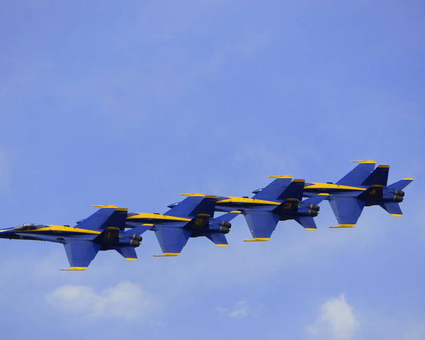 Blue Angels Poster featuring the photograph Blue Angels 7 by Laurie Perry