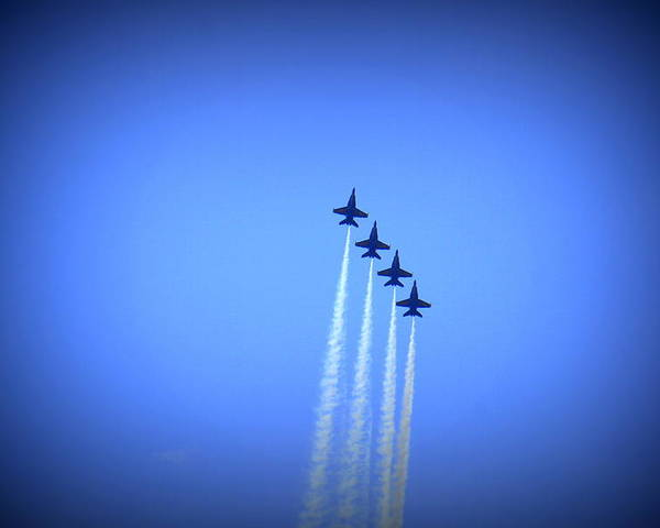 Blue Angels Poster featuring the photograph Blue Angels 8 by Laurie Perry