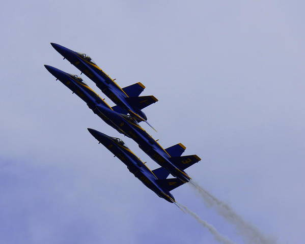 Blue Angels Poster featuring the photograph Blue Angels by Laurie Perry