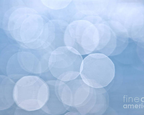 Blue Poster featuring the photograph Blue Bokeh Background by Elena Elisseeva
