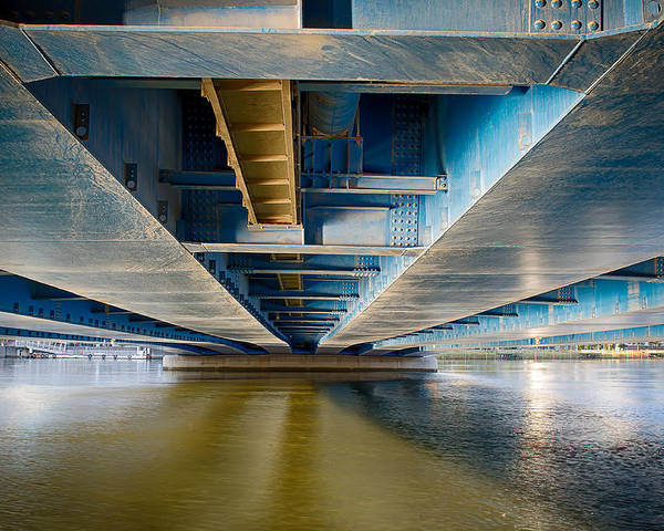 Architect. Architecture Poster featuring the photograph Blue Bridge by Jeremy Segal
