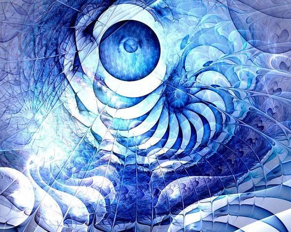 Malakhova Poster featuring the digital art Blue Dream by Anastasiya Malakhova