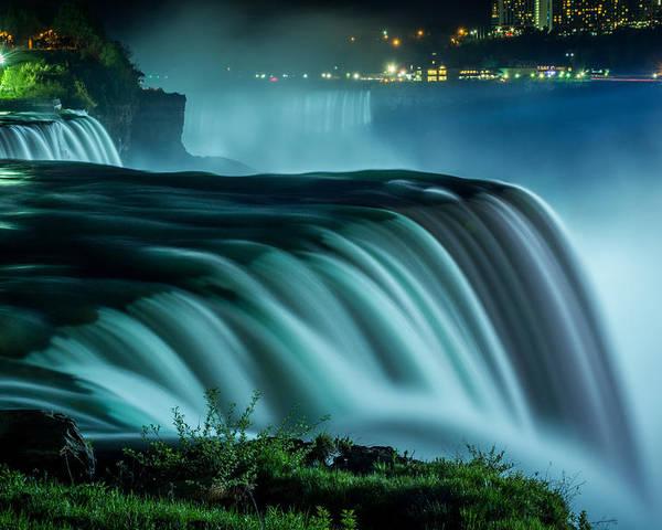 Niagara Falls Poster featuring the photograph Blue Fall by Pat Scanlon