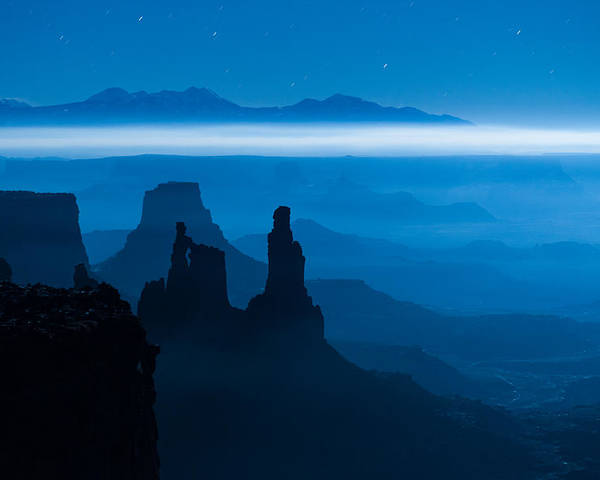 Utah Poster featuring the photograph Blue Moon Mesa by Dustin LeFevre