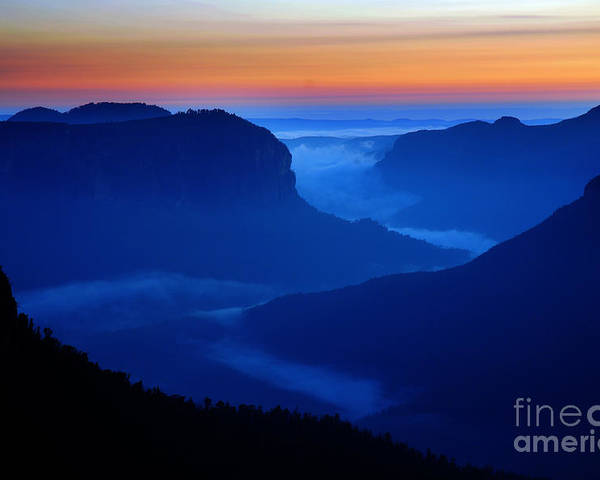 Dawn Poster featuring the photograph Blue Mountains Dawn by Colin Woods
