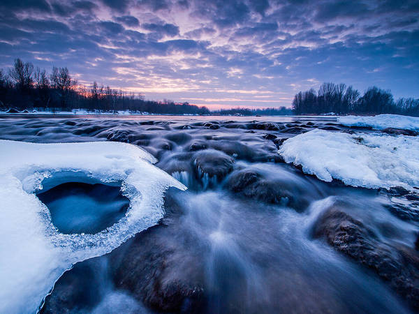Landscape Poster featuring the photograph Blue Rapids by Davorin Mance