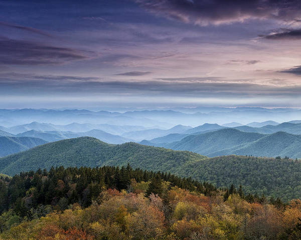 Blue Ridge Poster featuring the photograph Blue Ridge Mountains Dreams by Andrew Soundarajan