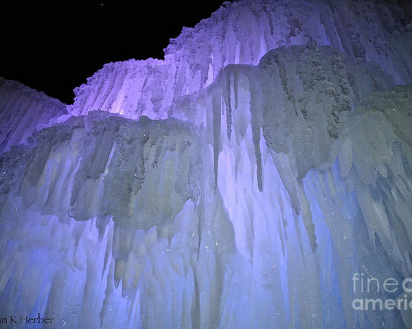 Ice Poster featuring the photograph Blue Violet Ice Mountain by Susan Herber
