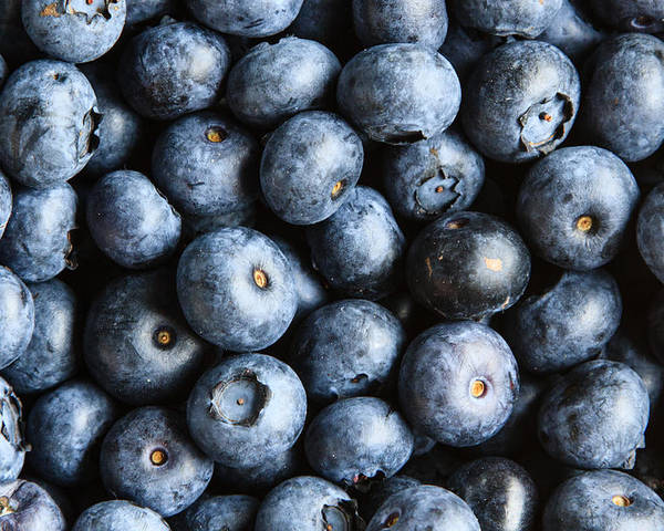 Background Poster featuring the photograph Blueberries by Stephan Stockinger