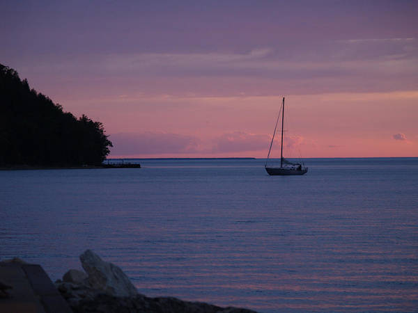 Susan Poster featuring the photograph Boat At Evening by Susan Crossman Buscho