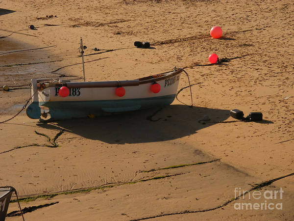 Boat Poster featuring the photograph Boat On Beach 04 by Pixel Chimp