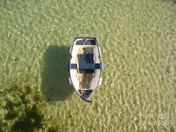 Boat Poster featuring the photograph Boat On Ocean by Pixel Chimp