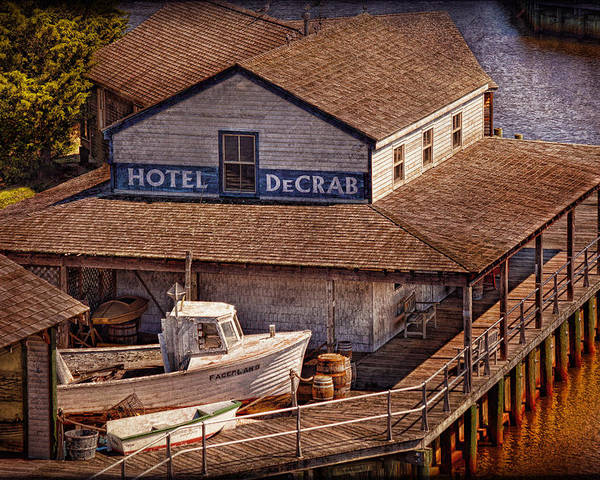 Hdr Poster featuring the photograph Boat - Tuckerton Seaport - Hotel Decrab by Mike Savad