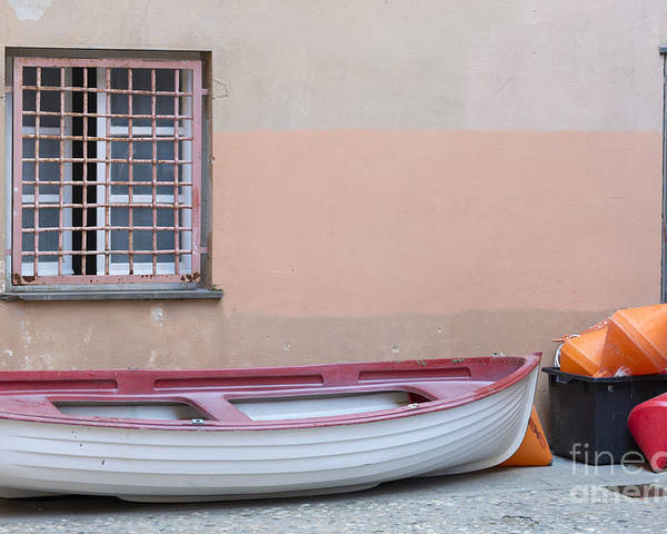 Boat Poster featuring the photograph Boat Under A Window by Mats Silvan