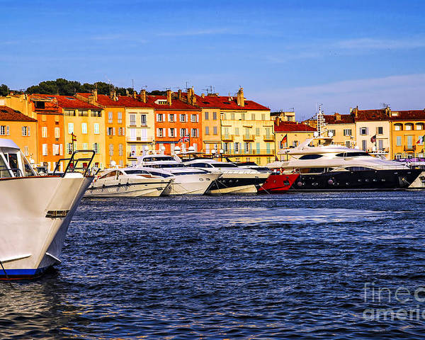 Yacht Poster featuring the photograph Boats At St.tropez Harbor by Elena Elisseeva