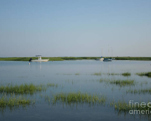 Beach Poster featuring the photograph Boats On A Calm Bay.02 by John Turek
