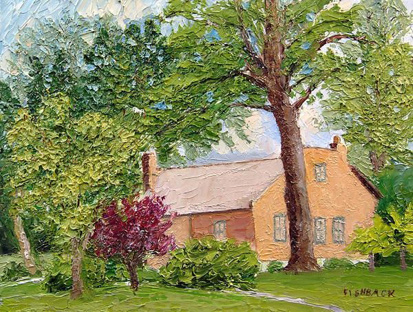 Landscapes Poster featuring the painting Bockrath-weise House Impressionistic Oil Painting by Daniel Fishback