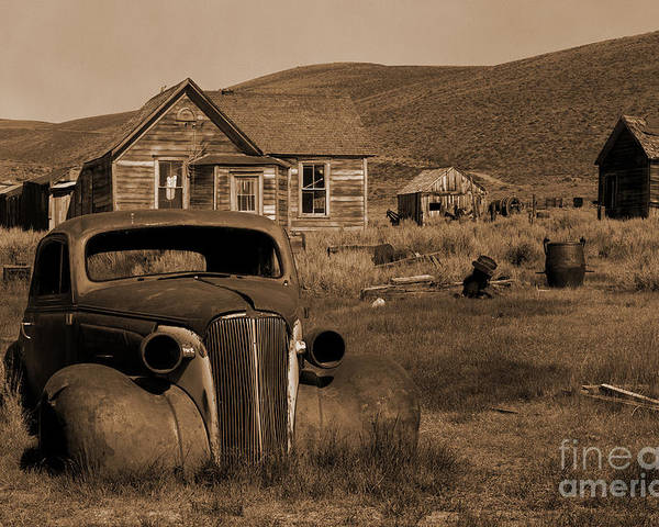 Car Poster featuring the photograph Bodie  #72986 by J L Woody Wooden