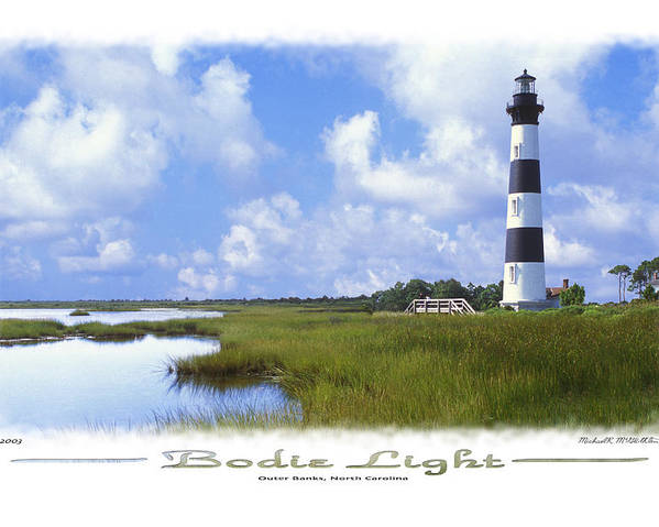 Bodie Lighthouse Poster featuring the photograph Bodie Light S P by Mike McGlothlen